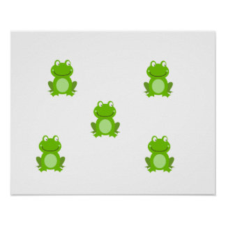 SUMMER Frog Design - Cute Frogs for Kids Poster