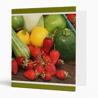 Summer Fruit and Vegetables Medley Avery Binder