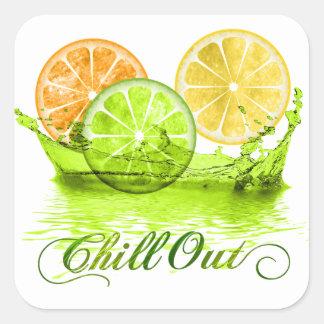 Summer Fruit Splash ID165 Square Sticker