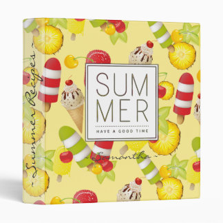 Summer Fruits and Ice-Cream Fun Binders