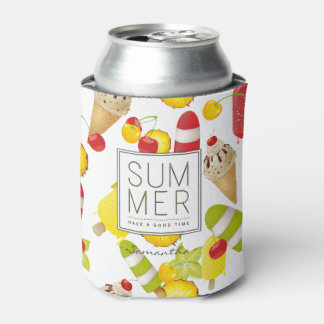 Summer Fruits and Ice-Cream Fun Can Cooler