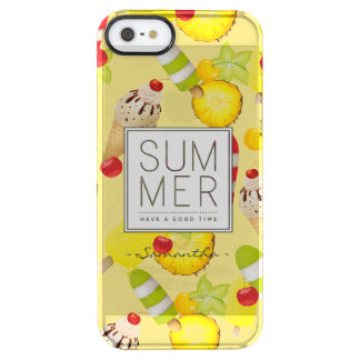 Summer Fruits and Ice-Cream Fun Clear iPhone SE/5/5s Case