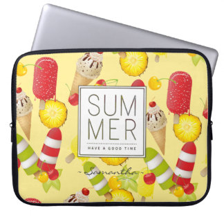 Summer Fruits and Ice-Cream Fun Laptop Sleeve