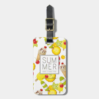 Summer Fruits and Ice-Cream Fun Luggage Tag