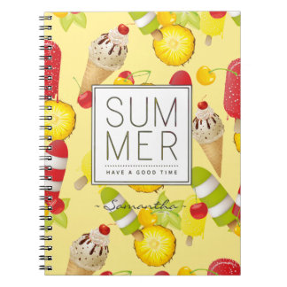 Summer Fruits and Ice-Cream Fun Notebook