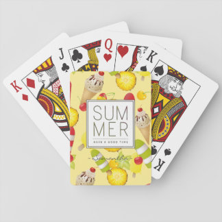 Summer Fruits and Ice-Cream Fun Playing Cards