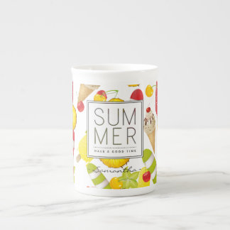 Summer Fruits and Ice-Cream Fun Tea Cup