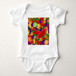 Summer fruits baby bodysuit