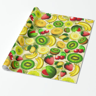 Summer Fruits Juicy PatterWrapping Paper