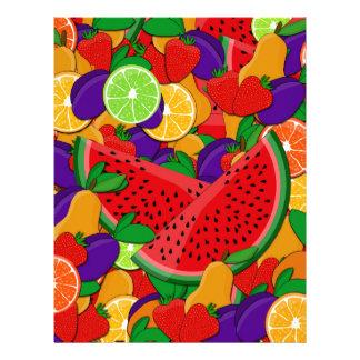 Summer fruits letterhead