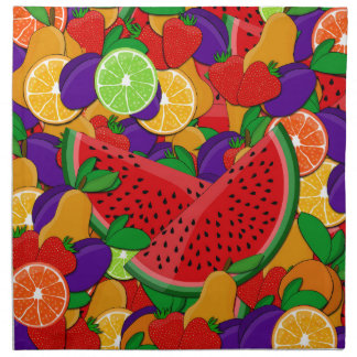 Summer fruits napkin