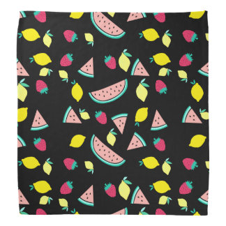 summer fruits pattern on any color background bandana