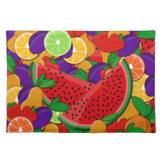 Summer fruits placemat
