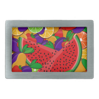 Summer fruits rectangular belt buckles