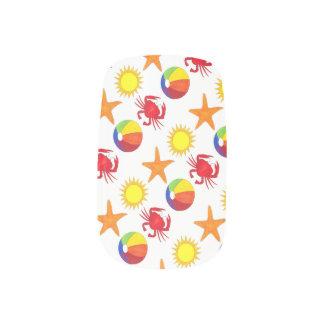 Summer Fun Beach Ball Starfish Sun Crab Ocean Minx Nail Art