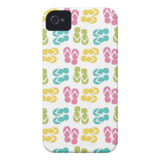 Summer fun brown flip flop sandal pattern iPhone 4 cases
