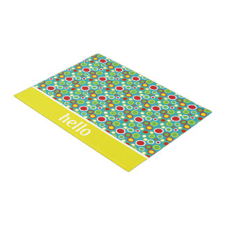 Summer Fun Bubble Polka Dots Personalized Doormat