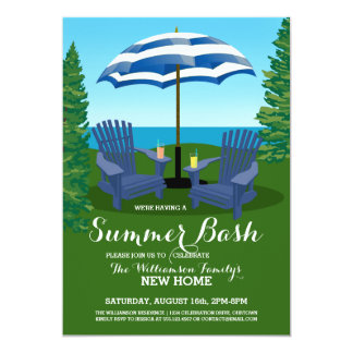 Summer Fun Celebration Party Invitations
