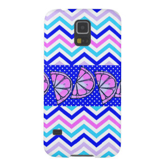 Summer Fun Citrus Fruit Slices Chevron Polka Dots Galaxy S5 Covers