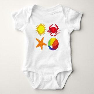Summer Fun Crab Starfish Sunshine Beachball Beach Baby Bodysuit