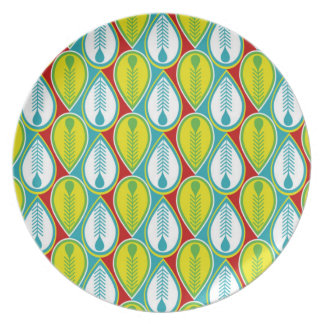 Summer Fun Feathers Plate