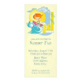Summer Fun Custom Invitations
