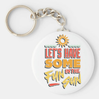 summer fun keychain