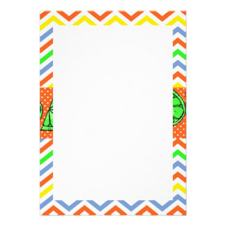 Summer Fun Limes Chevron Polka Dot Novelty Gifts Personalized Announcement