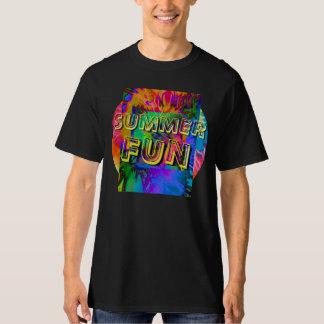 Summer Fun! Men's Black Tie-Dye Design T-Shirt