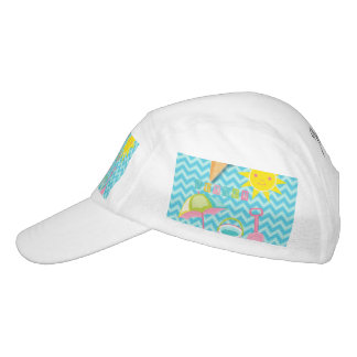 Summer Fun on Blue Waves Hat
