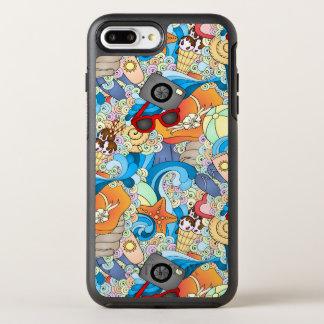 Summer Fun Pattern OtterBox Symmetry iPhone 7 Plus Case