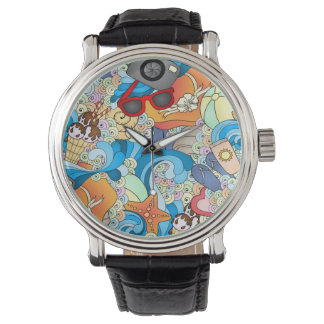 Summer Fun Pattern Wristwatch