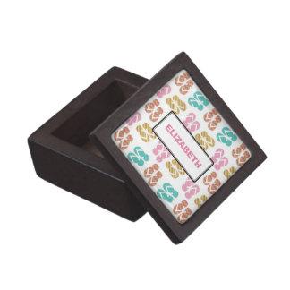 Summer fun pink flip flop sandal pattern custom premium gift boxes
