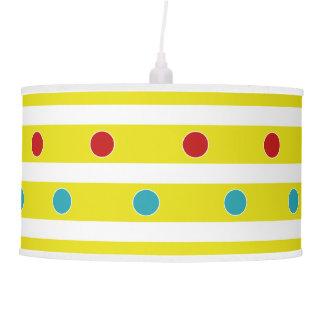 Summer Fun Polka Dots and Stripes Pendant Lamp