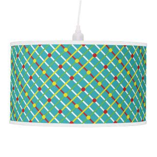 Summer Fun Polka Dots and Stripes Plaid Pendant Lamp
