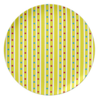 Summer Fun Polka Dots and Stripes Plate