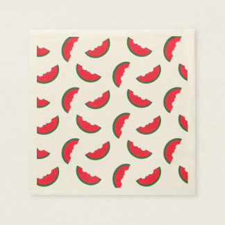 Summer Fun Red Watermelon Pattern Disposable Napkin
