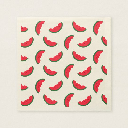 Summer Fun Red Watermelon Pattern Disposable Napkin