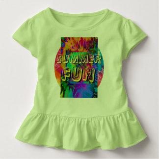 Summer Fun!  Ruffled Toddler Tee in Lime