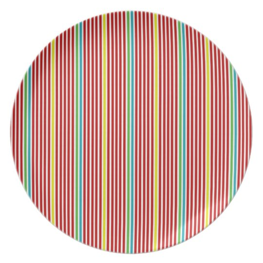 Summer Fun Stripes Plate