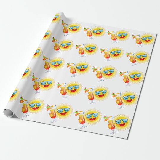 Summer Fun Sun Wrapping Paper