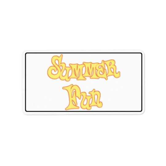 Summer Fun Text Design