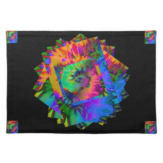 Summer Fun! Tie-Dye on Black Placemat