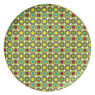 Summer Fun Tiles Plate
