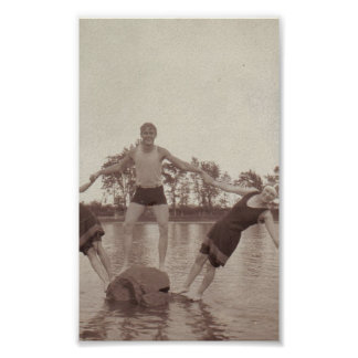 Summer Fun Vintage Photo Print