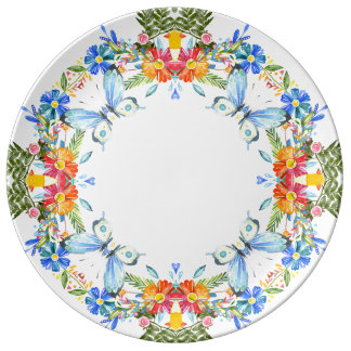 "Summer garden 10-75"" Decorative Porcelain Plate"