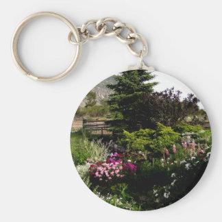 Summer Garden Basic Round Button Keychain