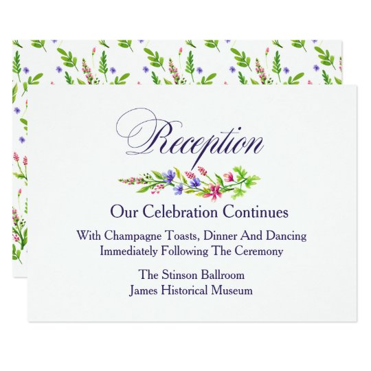 Summer Garden Floral Reception Card