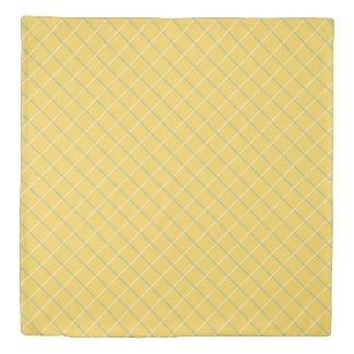 Summer Garden Lattice on Yellow Reversible Duvet Cover