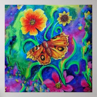 Summer Garden Moth Poster
